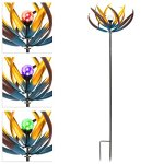Best-Choice-Products-75-Solar-Multi-Color-Tulip-Wind-Spinner-Solar-Powered-Glass-Ball-Emits-Color-Changing-Light-0-0
