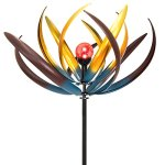 Best-Choice-Products-75-Solar-Multi-Color-Tulip-Wind-Spinner-Solar-Powered-Glass-Ball-Emits-Color-Changing-Light-0