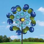 Bits-and-Pieces-63-Multi-Colored-Aurora-Borealis-Wind-Spinner-Reflects-Sunlight-to-Create-Spectacular-Glowing-Effect-Steel-Outdoor-Lawn-and-Garden-Dcor-0-0