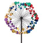 Bits-and-Pieces-Metallic-Kaleidoscope-Wind-Spinner-Garden-Dcor-Weather-Safe-Finish-Makes-for-Great-Addition-to-Your-Garden-Lawn-or-Patio-0