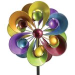 Bits-and-Pieces-Prismatic-Posy-Wind-Spinner-Decorative-Kinetic-Wind-Mill-Unique-Outdoor-Lawn-and-Garden-Dcor-Lawn-Ornament-0