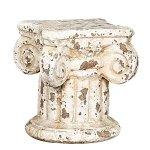 Creative-Co-op-HD5916-Distressed-Cream-Terracotta-Column-Pedestal-0