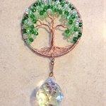 Crystal-Sun-Catcher-Tree-of-Life-Window-Ornament-with-30mm-Crystal-Ball-Prism-Handmade-Window-Ornament-Feng-Shui-Healing-Crystal-Gemstone-Wire-Tree-SuncatcherGreen-Crystals-0-1