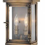 Hinkley-2000DS-Hamilton-Outdoor-Wall-Sconce-2-Light-120-Total-Watts-Dark-Antique-Brass-0