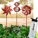HomeCricket-Gift-Included-Garden-Wind-Spinners-Rustic-Copper-Windmill-Lawn-Decoration-Set-of-3-Free-Bonus-Water-Bottle-by-Home-Cricket-0