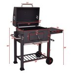JedaJeda-NEW-Backyard-Charcoal-Grill-Barbecue-BBQ-Outdoor-Patio-Cooking-Portable-Wheels-0-2