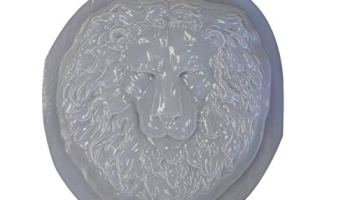Italian Lion Head Concrete Wall Plaque 10 inches H x 10 inches W