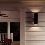 Luxury-Contemporary-Outdoor-Wall-Light-Medium-Size-18H-x-6W-with-Art-Deco-Style-Elements-Midnight-Black-Finish-UHP1067-from-The-Hollywood-Collection-by-Urban-Ambiance-0