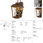 Maxim-53504CLAE-Arbor-LED-1-Light-Outdoor-Wall-Lantern-Adobe-Finish-Clear-Glass-PCB-LED-Bulb-26W-Max-Wet-Safety-Rating-2700K-Color-Temp-Shade-Material-1760-Rated-Lumens-0-0