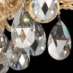 Milano-2-Light-Chandelier-in-Florentine-Bronze-with-Silver-Shade-Crystals-From-Swarovski-0