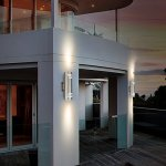 Outdoor-Modern-Wall-Sconce-by-COOL-CARE-Exterior-Lighting-and-Contemporary-Housing-Dcor-Waterproof-Stainless-Steel-Flush-Mount-Cylinder-Design-Up-Down-Light-Fixture-for-Backyard-Patio-Garage-0-0