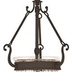 Pendants-Porch-2-Light-with-Hand-Crafted-Clear-Melon-Glass-Bronze-Size-9-in-120-Watts-World-of-Crystal-0