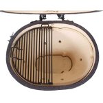 Primo-Oval-JR-200-Ceramic-Smoker-Grill-On-Cart-with-2-Piece-Island-Top-0-0