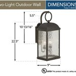 Sea-Gull-Lighting-88190-802-Outdoor-Sconce-with-Seeded-Water-Glass-Shades-Obsidian-Mist-Finish-0-0