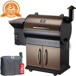 Z-GRILLS-Portable-Party-Wood-Pellet-BBQ-Grill-Smoker-450-Cooking-Area-8-in-1-Grill-in-Smoke-Bake-Roast-Braise-Braise-or-BBQ-Digital-Temperature-Controls-Free-Water-Proof-Patio-Cover-Included-0