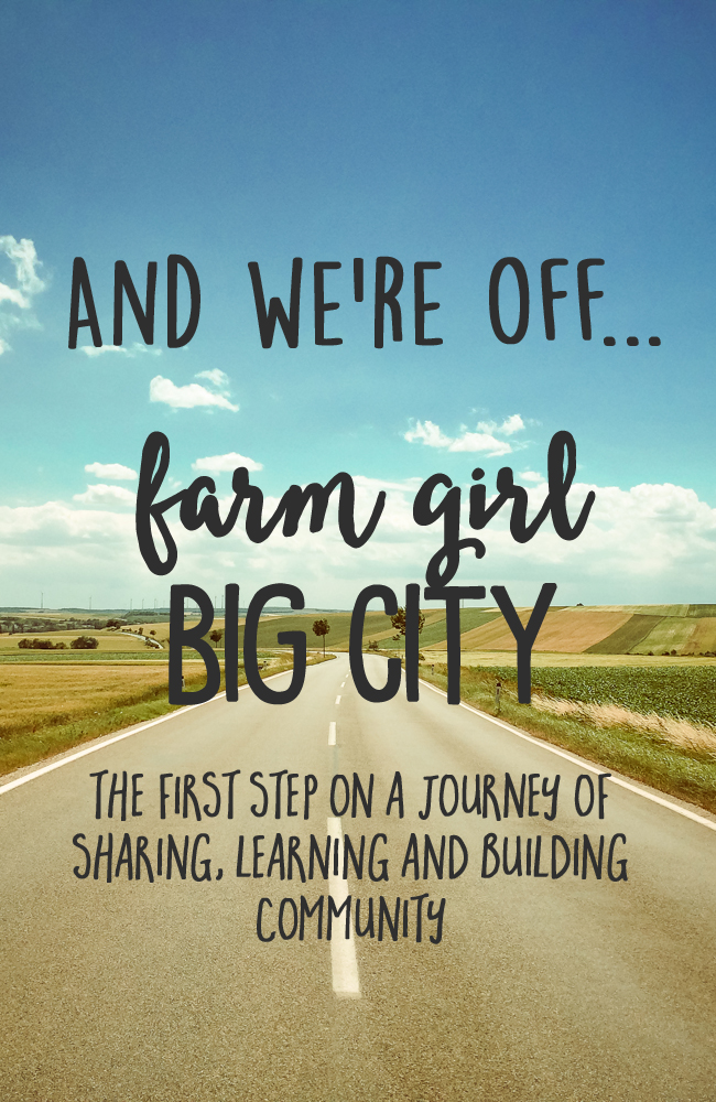 And we're off - the first post of the rest of my blog life. Check it out on farmgirlbigcityblog.com
