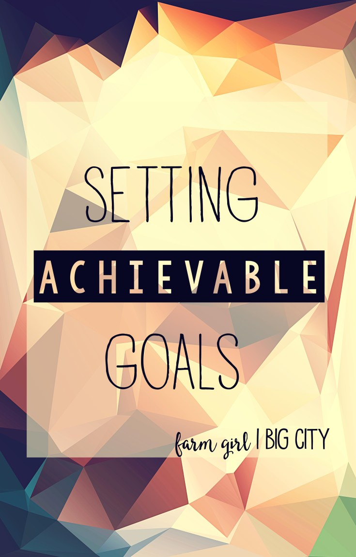 Setting achievable goals (via farm girl big city)