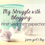 My struggle with blogging during the first year