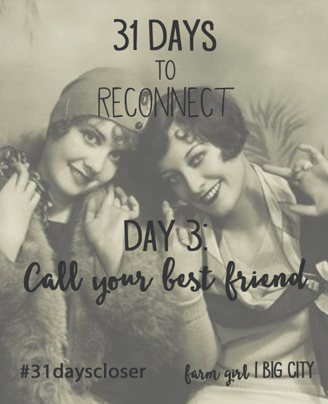 Take the free 31 day challenge to build and strengthen your connections with the people you care about most in your life!