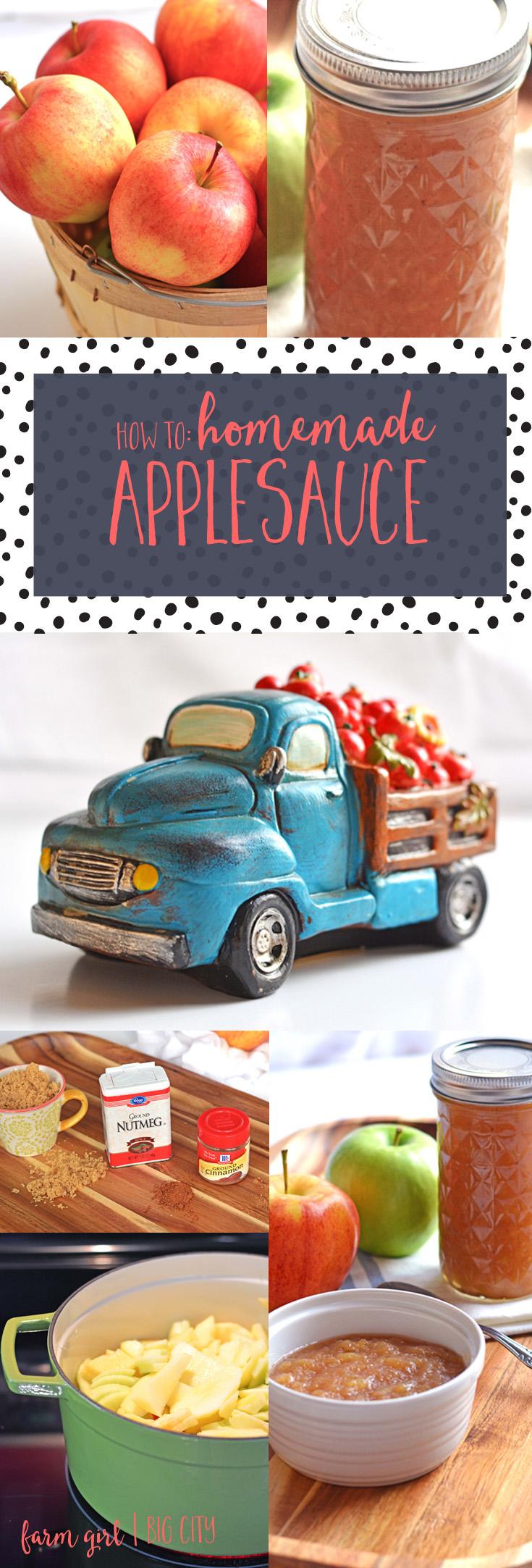 How to make and preserve homemade applesauce (via farm girl big city)