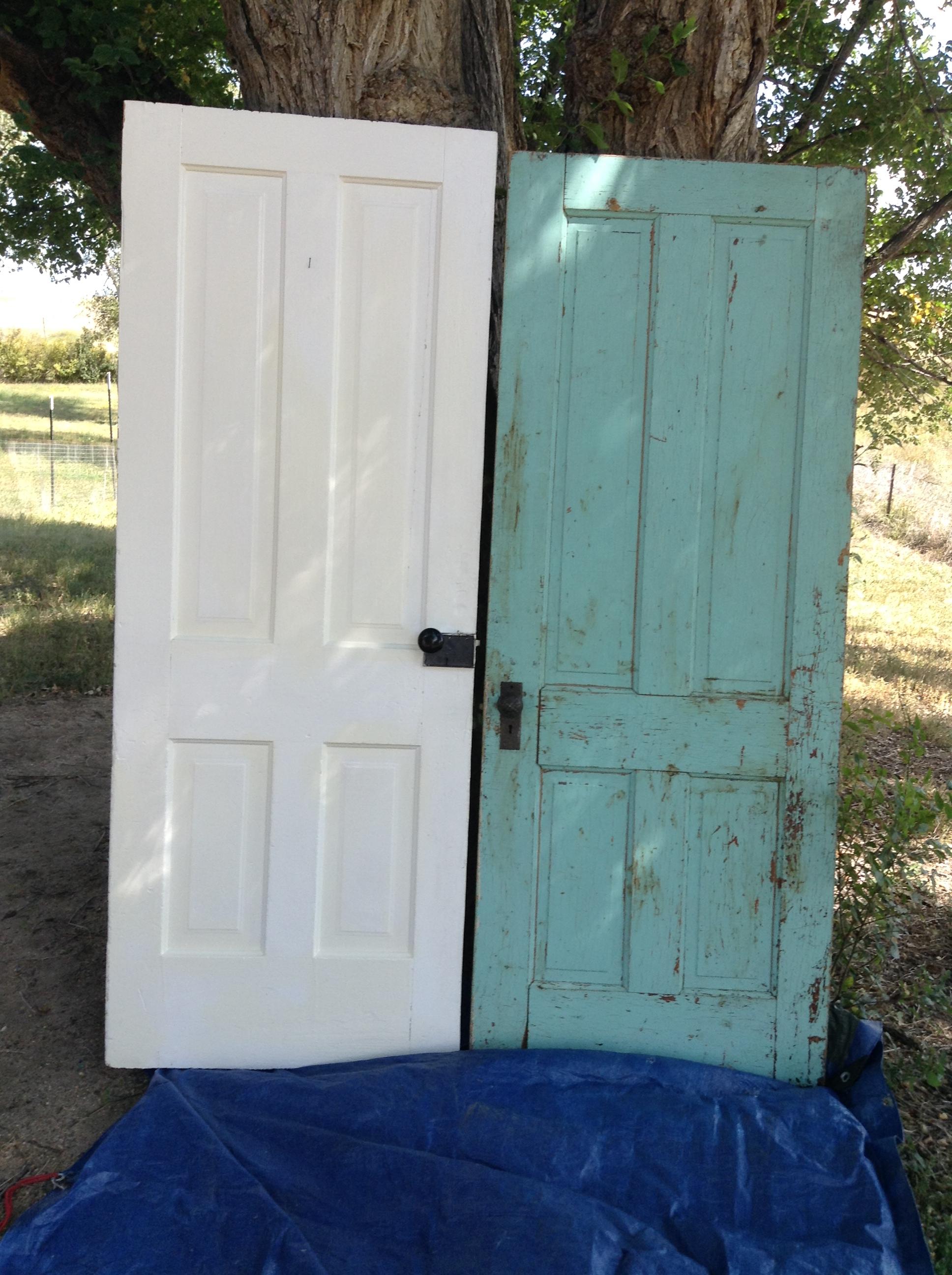making a vintage door headboard and