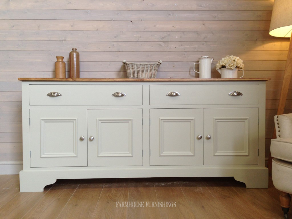 Painted Solid Pine Sideboard Handmade Solid Pine 6ft