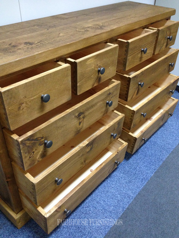 Solid Pine Chest Of Drawers Rustic Solid Pine Sideboard