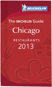 2013 Michelin Guide Book Cover