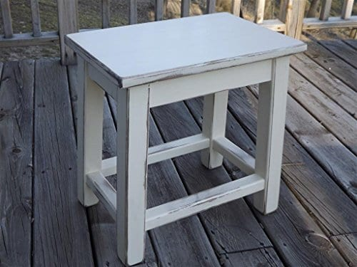 Style Of Distressed White Wood Side End Table HD - Inspirational small white end table In 2018
