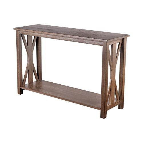 Solid Rustic Grey Wood Farmhouse Console Table Farmhouse Goals