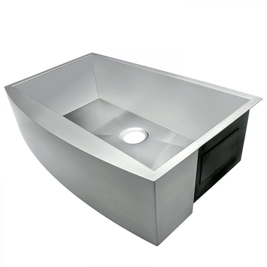 akdy 33 single bowls 18 gauge undermount apron handmade stainless steel kitchen sink 4 akdy 33   x 20   x 9   single bowl 18 gauge farmhouse stainless steel      rh   farmhousegoals com