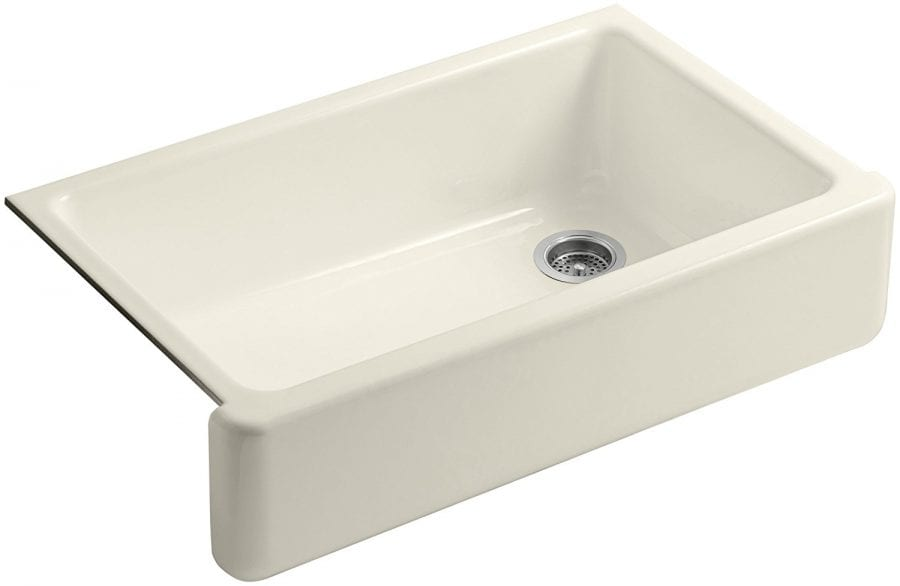 Kohler White Self-Trimming Apron Single Bowl Sink, 36\
