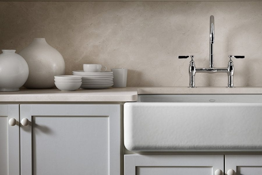 Kohler White Self Trimming Apron Single Bowl Sink 36 X