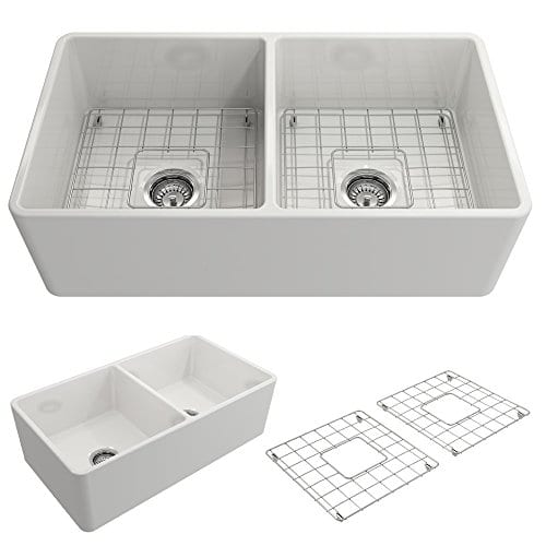 Classico Farmhouse Apron Front Fireclay Double Sink ...