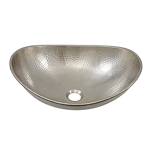 Incroyable Sinkology Hammered Nickel Hobbes 19 Inch Above Counter Vessel Sink