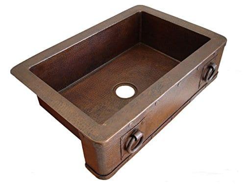 Ariellina farmhouse 14 gauge hammered copper kitchen sink ariellina farmhouse 14 gauge hammered copper kitchen sink workwithnaturefo