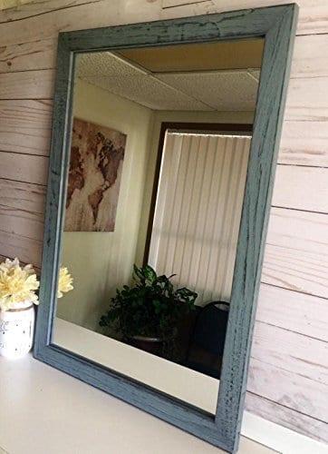 large rustic wooden farmhouse mirror farmhouse goals