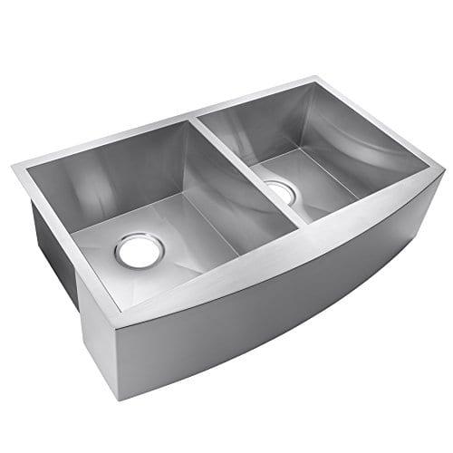 AKDY Undermount Double Stainless Steel Farmhouse Sink, 33\