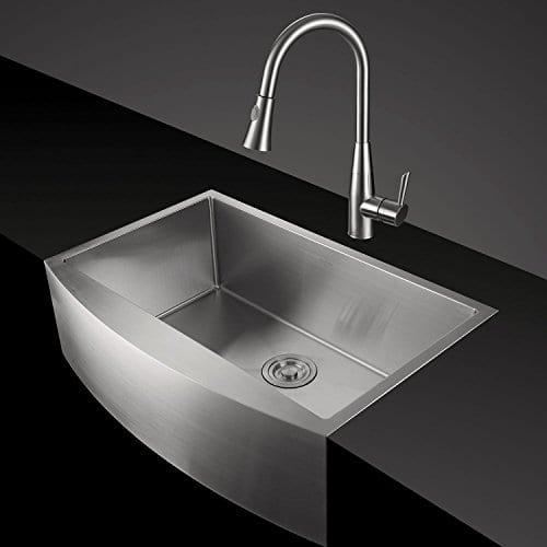 AguaStella Stainless Steel Farmhouse Apron Kitchen Sink Single Bowl ...