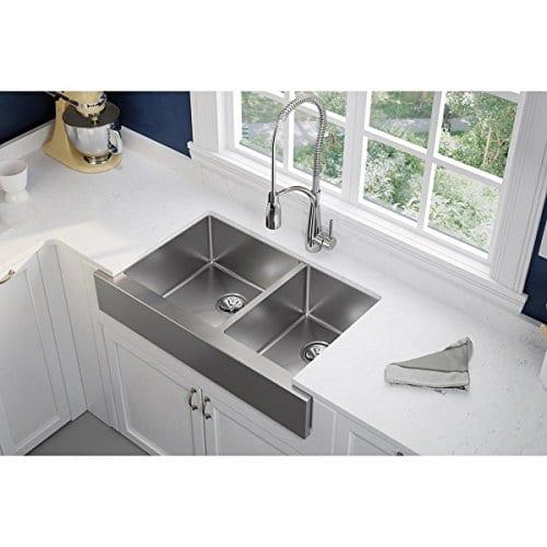 60 40 Kitchen Sink Elkay crosstown 6040 double bowl farmhouse stainless steel kitchen elkay crosstown 6040 double bowl farmhouse stainless steel kitchen sink workwithnaturefo