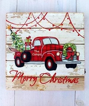 Bringing Home The Tree Vintage Red Truck Christmas Decor Farmhouse Sign Buffalo Check Plaid Rustic Home Decoration Farmhouse Goals