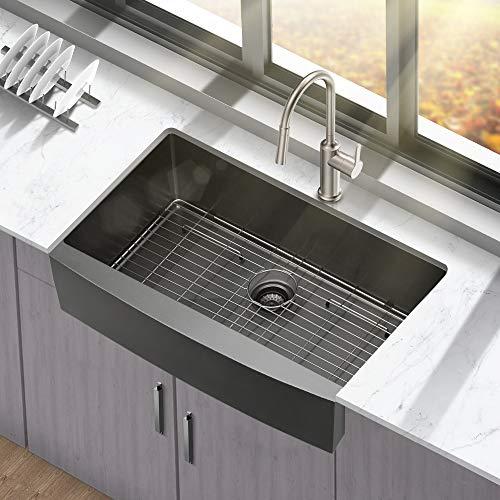 30 black farmhouse sink mocoloo 30 inch