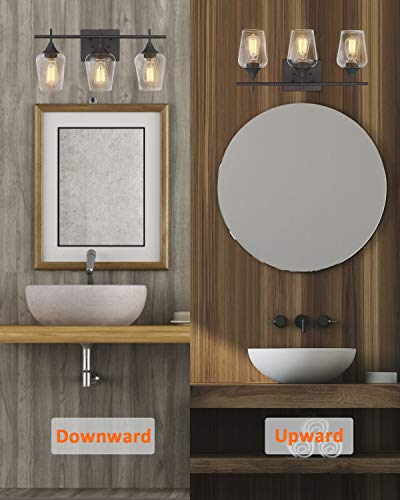 osimir bathroom light fixtures 21 inch farmhouse bathroom vanity lights over mirror dark bronze bath wall light