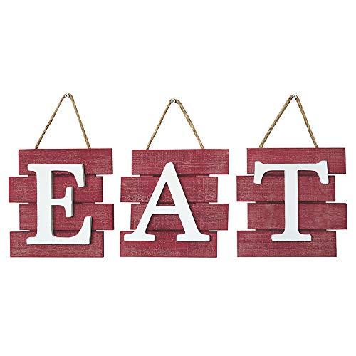 Barnyard Designs Eat Sign Wall Decor Rustic Farmhouse Decoration For Kitchen And Home Decorative Hanging Wooden Farmhouse Goals