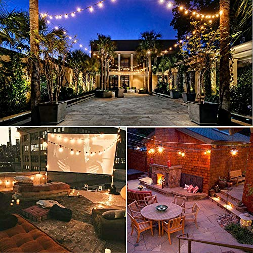 binval globe string lights g40 string lights ul listed patio lights for indoor outdoor commercial decoration 25ft with
