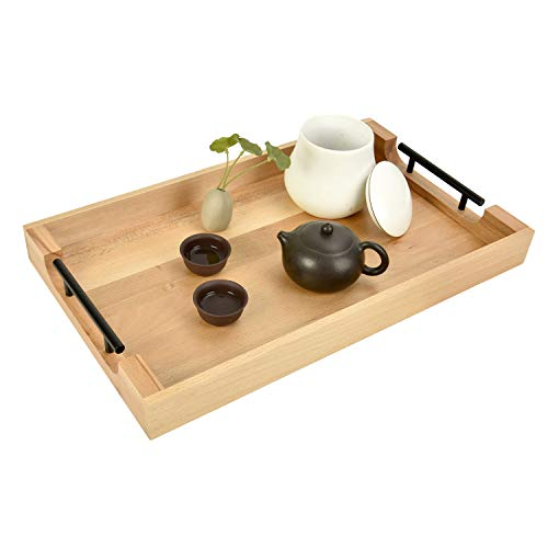 hosiun rustic ottoman tray large 20 x12 coffee table trays ottoman tray with handles serving tray for ottoman farmhouse serving tray