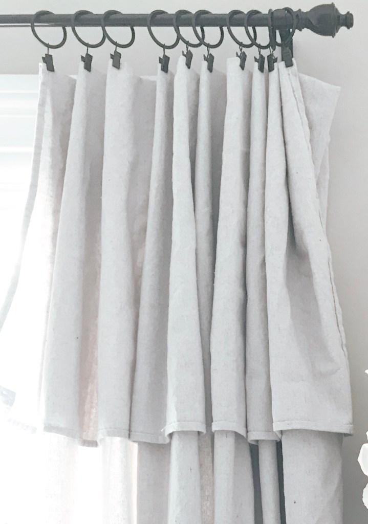 Dropcloth folds - Farmhousish
