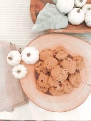 Gluten Free Dairy Free Pumpkin Chocolate Chip Cookie Recipe - Farmhouseish