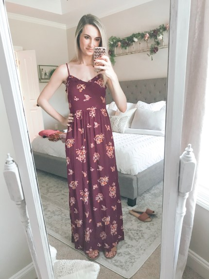 Farmhouseish - Burgundy Maxi Dress