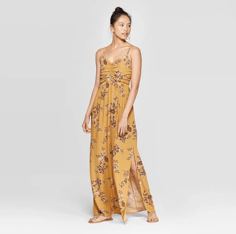 Farmhouseish - Mustard Floral Maxi